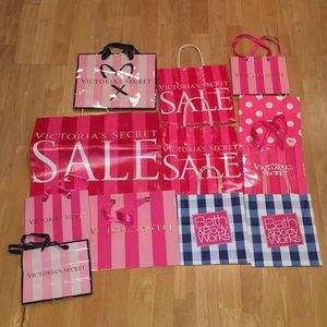 Dozen shopping bags (Victoria Secret and BBW) 🛍